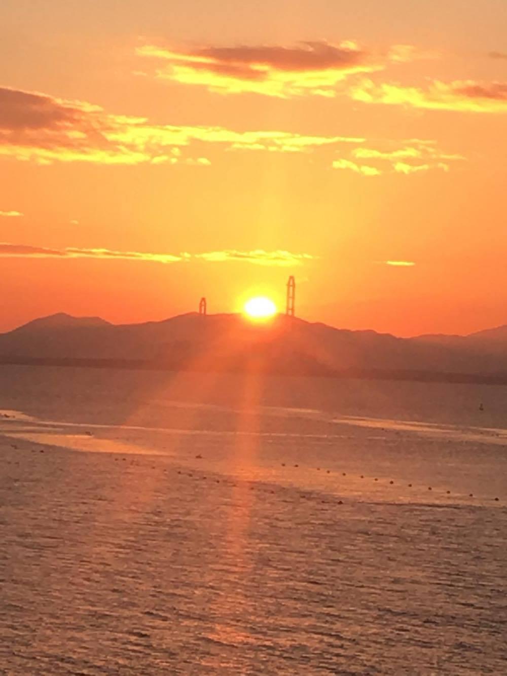 篠島からの初日の出!