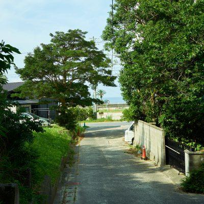 海水浴場に向かう小道
