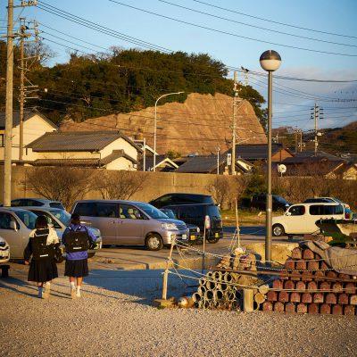 港横の通学路