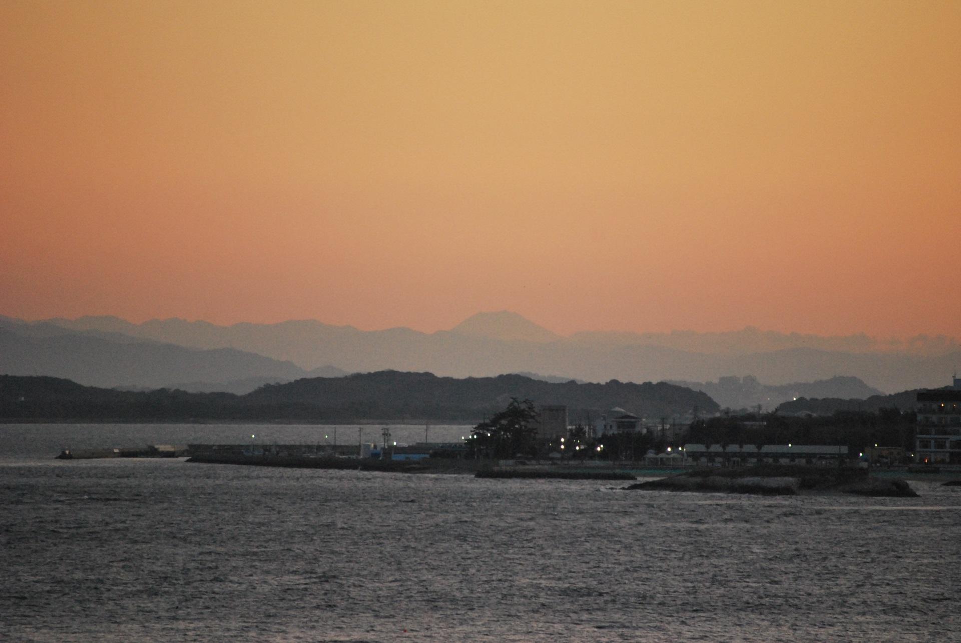 初日の出 師崎からの富士山