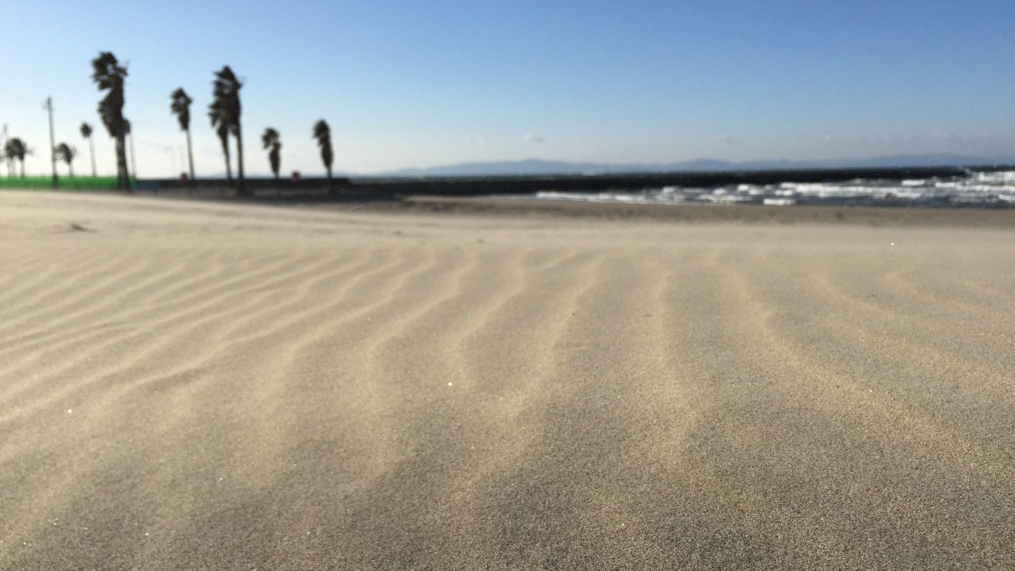 白砂の砂紋