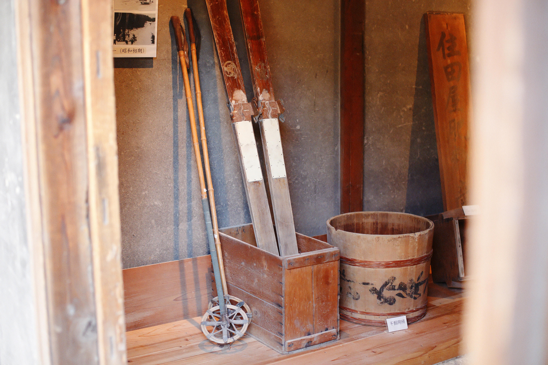 木製のスキー板